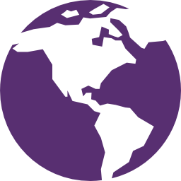An icon of a globe representing international engagement
