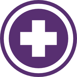 An icon of a plus symbol representing health